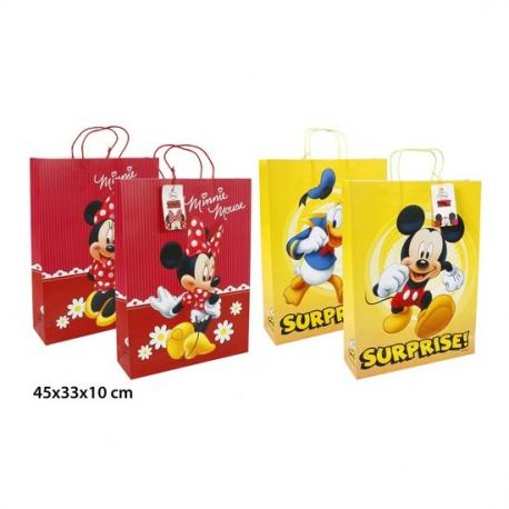 BOLSA REGALO KRAFT, DISNEY, -MICKEY - MINNIE-, XL - Imagen 1