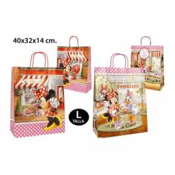 BOLSA REGALO, DISNEY, -MINNIE-, TALLA L