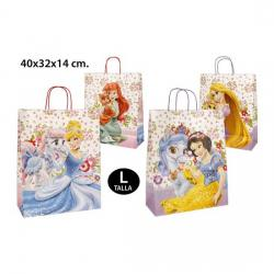 BOLSA REGALO, DISNEY, -PRINCESS-, TALLA L