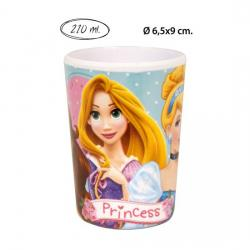 VASO MELAMINA, DISNEY, -PRINCESS-, 210ML.