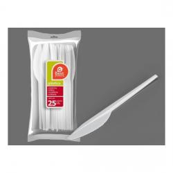 CUCHILLO PLÁSTICO BLANCO 16,5CM  2,3 GRUESO, BEST PRODUCTS, 25UDS.
