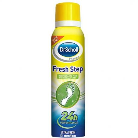 DR.SCHOLL FRESH STEP SPRAY DESODORANTE PIES EXTRA FRESH 24 HORAS 150 ML - Imagen 1