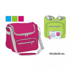 BOLSA NEVERA RECTANGULAR SOLIDA ROSA