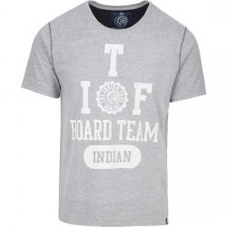 CAMISETA INDIAN BOARD TEAM - LIGHT GREY MELANGE - Imagen 1