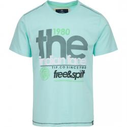 CAMISETA FREE AND SPIRIT 1980 - SOFT BLUE - Imagen 1