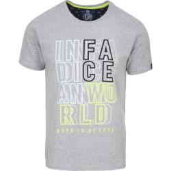 CAMISETA INDIAN WORLD - LIGHT GREY MELANGE - Imagen 1