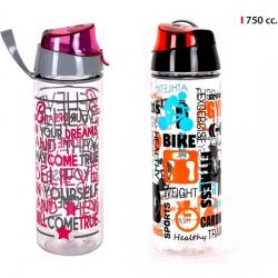 BOTELLA SPORT DECORADA 750ML - SURTIDOS