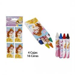 Pack Ceras Color 4 Cajasx 4 Ceras, DISNEY, -PRINCESS-, 16uds.