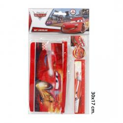 Set Escolar, DISNEY, -CARS-, 4piezas