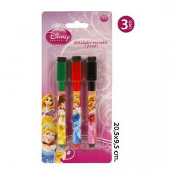 Rotulador Borrable Pizarra, DISNEY, -PRINCESS-, 3uds.