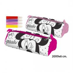 Portatodo Tubo Colores 4 Rotuladores, DISNEY, -MINNIE-