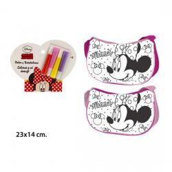 Bolso Coloreable 4 Rotuladores, DISNEY, -MINNIE- - Imagen 1