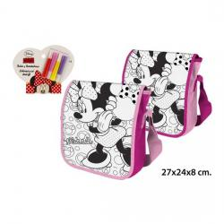 Bolso Bandolera Coloreable 4 Rotuladores, DISNEY, -MINNIE- - Imagen 1