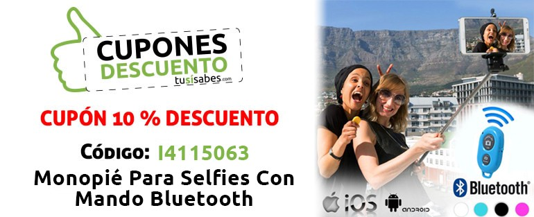 Monopie Selfies con Mando Bluetooth