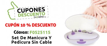 Set Manicura Pedicura Sin Cable