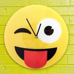 Reloj de Pared Emoticono Guiño