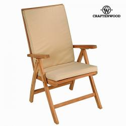 Silla teca natural reclinable by Craftenwood - Imagen 1