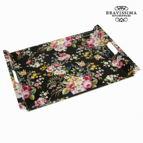 Bandeja bloom black - Colección Kitchen's Deco by Bravissima Kitchen - Imagen 1