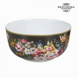 Bol porcelana bloom black - Colección Kitchen's Deco by Bravissima Kitchen
