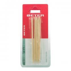 Beter - ORANGE STICKS cuticle pusher 11,5 cm 5 pz