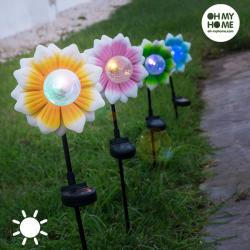 Flor Solar con LED Multicolor Oh My Home - Imagen 1